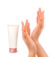 hand cream tube vector image vector image