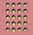 emotional faces set vector image