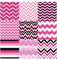 seamless pink zig zag set vector image