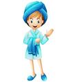 A fresh girl with her bathrobe vector image