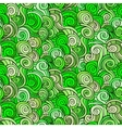 Seamless abstract pattern with waves and curls vector image