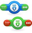 web element set for sale vector image vector image