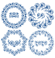 Round ornam blue 3 380 vector