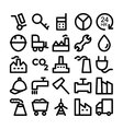 Industrial Icons 8 vector image