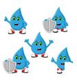 Water antibacteria Icon Set vector image