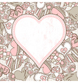 background with valentines hearts vector image