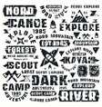 Camping typographic elements vector image