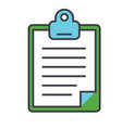 clipboard to-do checklist concept line vector image