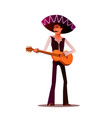 mexican and latin music band musician with guitar vector image
