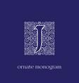 monogram j vector image