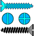Stainless steel screw vector image