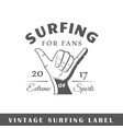 surfing label vector image