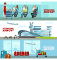 International Airport Horizontal Banners vector image