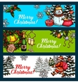 Christmas Day New Year festive banner set vector image vector image