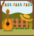 colorful background of festa junina with rural vector image