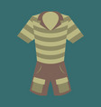 icon in flat design fashion clothes shorts and vector image