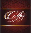 Coffee Calligraphic Lettering vector image vector image