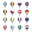 european flag pointers vector image vector image