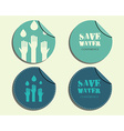 Save water conference badges and labels invitation vector image