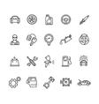 Car Service Outline Icons Set vector image