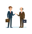business partners discussing in office questions vector image
