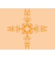 Candle ornament vector image