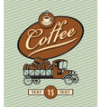 coffee truck vector image