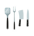 cutlery - cleaver spatula fork knife vector image