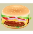 Fastfood Hamburger ingredients vector image