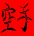 karate text vector image