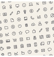 Light Seamless Business Background with Line Icons vector image