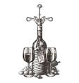 wine logo design template grape or glass vector image