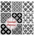 Floral Damask pattern set flowery ornament vector image vector image