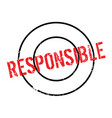responsible rubber stamp vector image