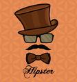 hipster sa brkovima1 resize vector image vector image