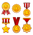Medals with star vector image