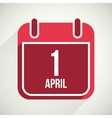 flat calendar apps icon 1 april fools day vector image