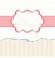Vintage polka dot card EPS 8 vector image vector image