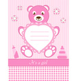baby girl shower invitation ca vector image
