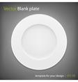 Empty white plate on grey bakcground EPS10 vector image