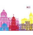Nice skyline pop vector image