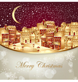 christmas with town vector image