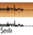 Seville skyline in orange vector image