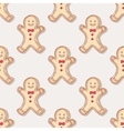 Hand drawn christmas gingerbread man cookies vector image vector image
