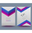 brochure design template flyer layout magazine cov vector image vector image
