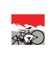 Cyclocross Athlete Running Carrying Bike Alps vector image