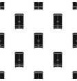 closet icon in black style isolated on white vector image