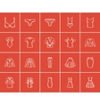 Clothes for women sketch icon set vector image