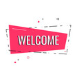 flat welcome sign hand drawn invitation card t vector image