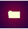 folder flat web icon vector image